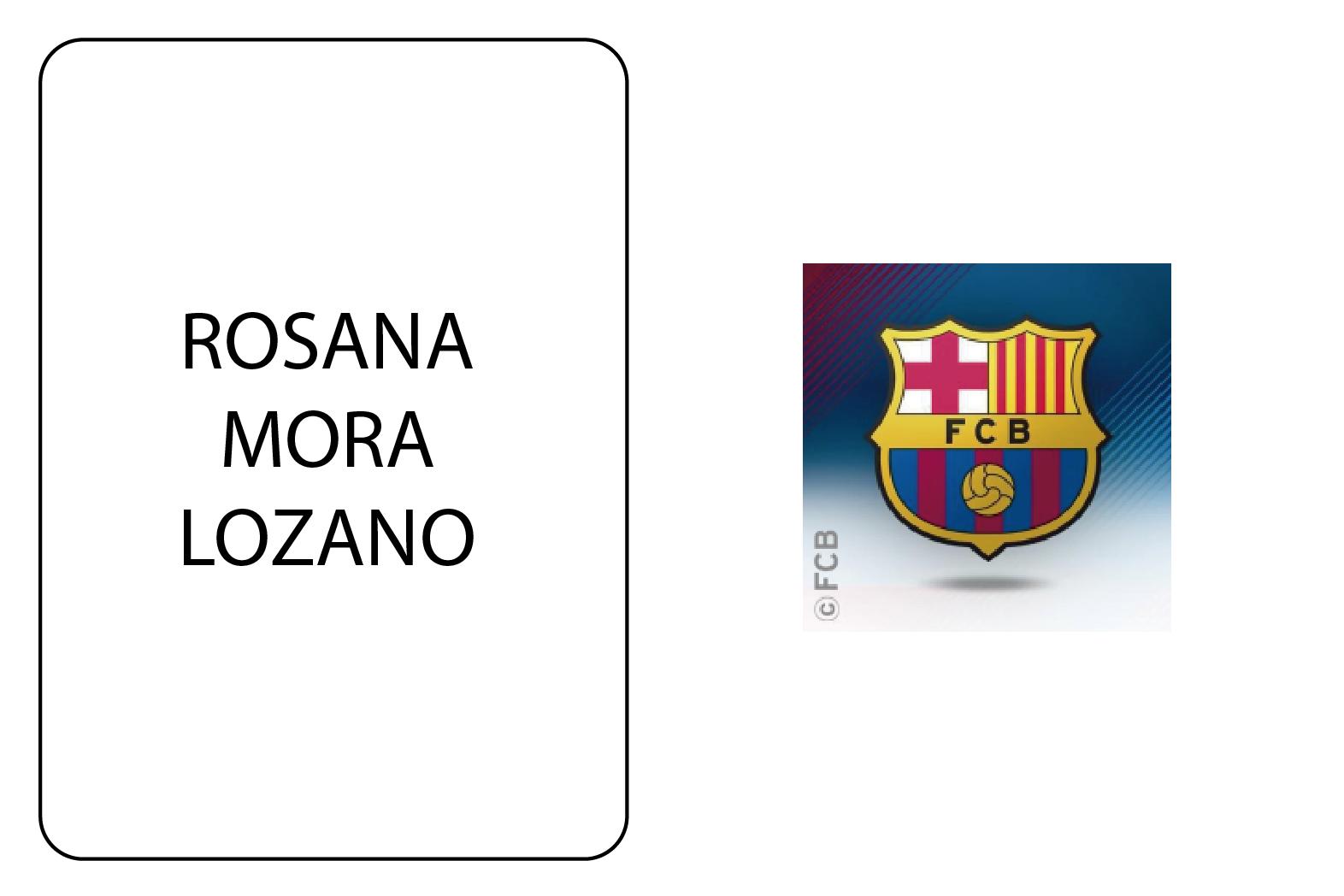 NOMBRE SOCIA  Rosana Mora Lozano EMPRESA  FUTBOL CLUB BARCELONA SECTOR   Comunicació PÁGINA WEB  https   www.fcbarcelona.cat  0003bbadbad